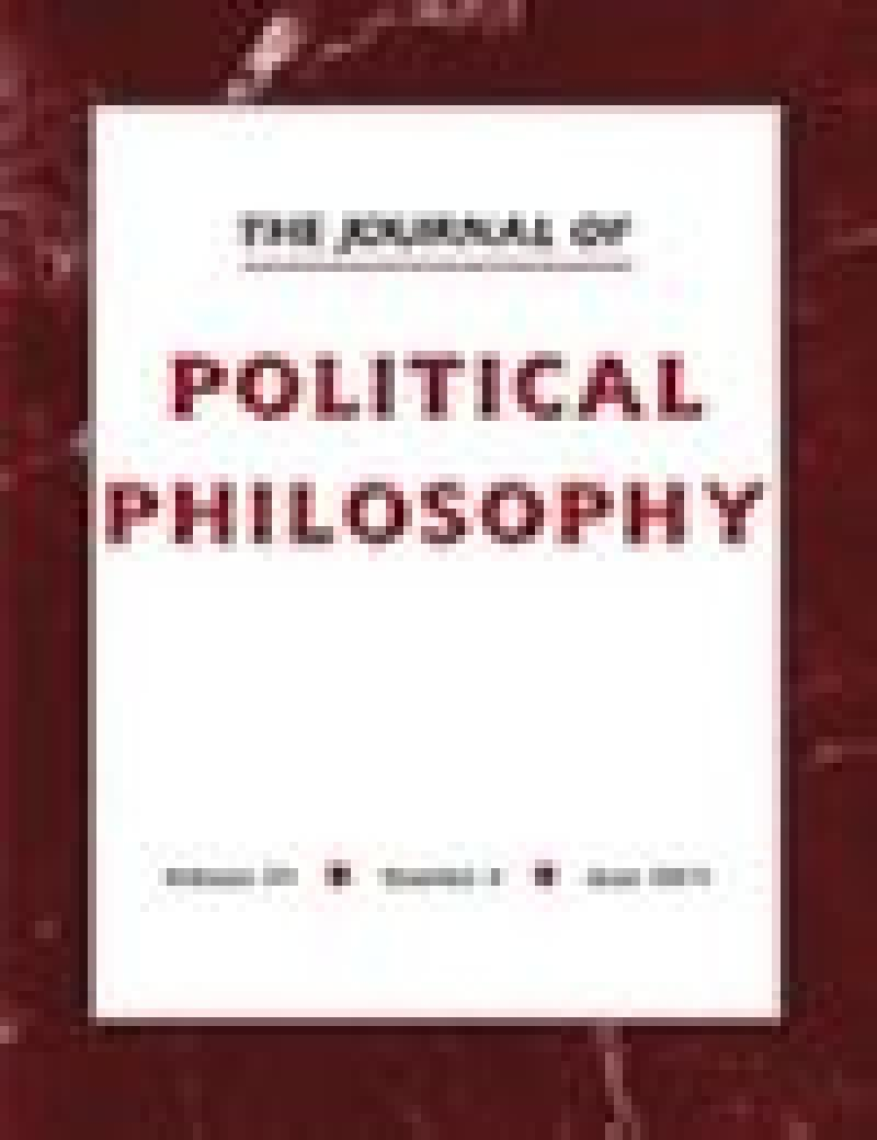 Cover of the Journal of Political Philosophy