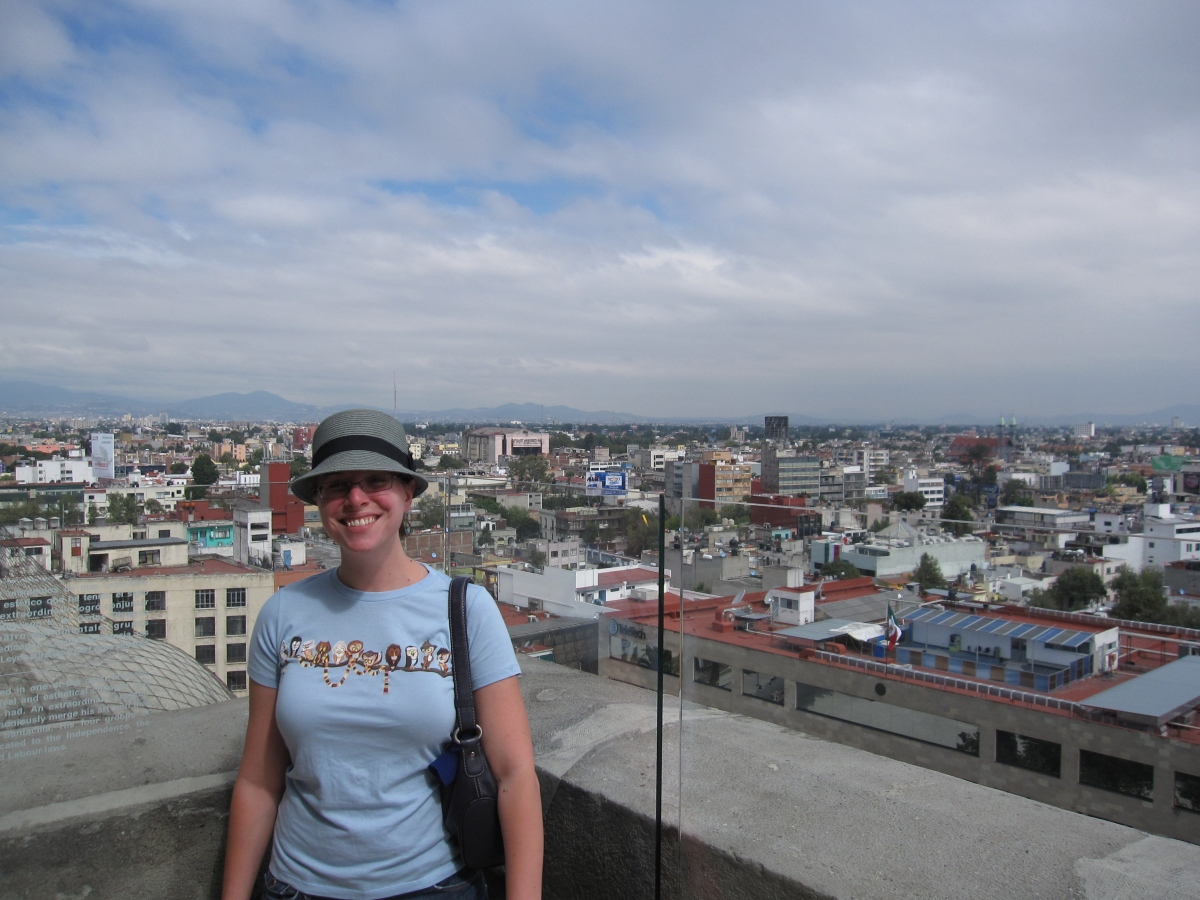PhD student Miryam Chandler, in Mexico doing dissertation research.