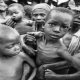 group of malnourishe children