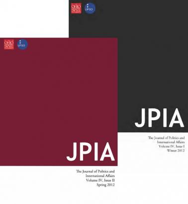 Journal of Politics and International Affairs Cover Pages